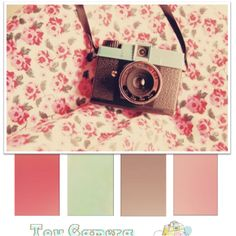 i love the minty green in this vintage palette