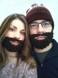 Crochet Beard + free pattern