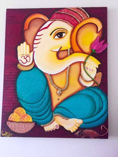 Madhubani Paintings Peacock, Peacock Painting, Indian Art Paintings, Mandala Painting, Fabric Painting, Spiritual Paintings, Lord Ganesha Paintings, Krishna Painting, Ganesha Drawing