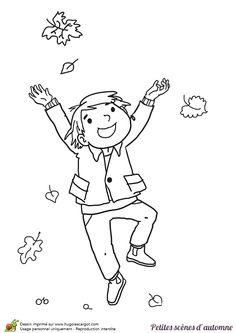 A colorier un dessin d un petit gar on entrain de jouer - Dessin petit garcon ...