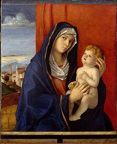 Giovanni Bellini, Madonna dos Querubins Vermelho , c. 1485