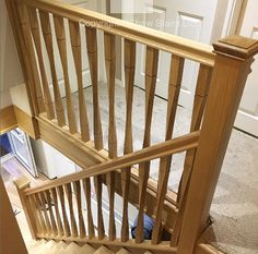 Contemporary Oak Twist Balustrade Fitted Nicely Into This Project.