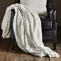Curly Lamb Throw In Ivory