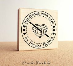 Large Personalized Crochet Rubber Stamp, Handmade with Love Crochet Label Stamp Text Layout, Dry Well, Photography Tools, Handmade Tags, Custom Stamps, Love Crochet, Craft Business, Crochet Projects, Paper Crafts
