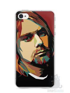 Capa Iphone 4/S Kurt Cobain - SmartCases - Acessórios para celulares e tablets :)