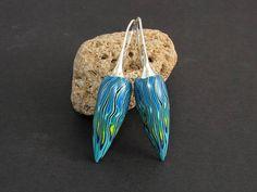 Nymphe außergewöhnliche Ohrringe aus polymer clay tragbare