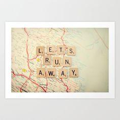 let's run away Art Print by Shannonblue - $19.00
