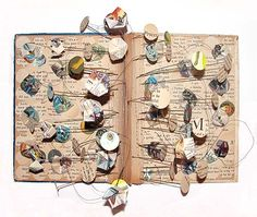 #BookHack . Lovely altered book #BookArt