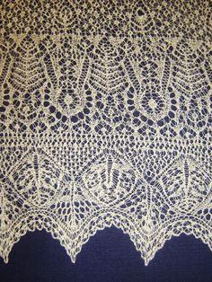 Miss Hamilton's gift - Shetland lace knitting