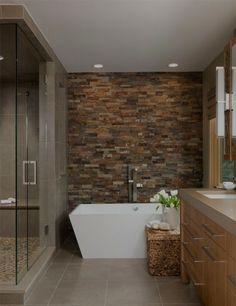 Make bathroom modern ideas Wall tiles stone look ceramic freestanding bathtub