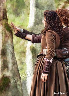 "Home | My Outlander Art ""The hardest journey"""