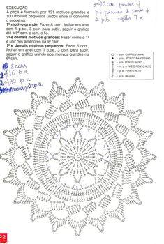 Teresa Botelho's media content and analytics Motif Mandala Crochet, Free Crochet Doily Patterns, Crochet Snowflake Pattern, Crochet Motifs, Crochet Diagram, Crochet Chart, Thread Crochet, Crochet Doilies, Crochet Flowers