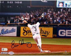 Evan Longoria Signed Playoff Clincher Walk-Off 8x10 Photo (MLB Auth; Longoria Holo)