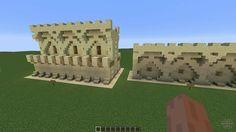Minecraft Garden, Minecraft Wall, Minecraft Castle, Minecraft Projects, Minecraft Stuff, Minecraft Ideas, Minecraft Bridges, Minecraft Blueprints, Geek Games