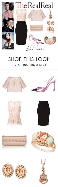 """Holiday Sparkle With The RealReal: Contest Entry"" by karen-galves ❤ liked on Polyvore featuring Valentino, Christian Dior, Dolce&Gabbana, Winser London, LE VIAN and Links of London"