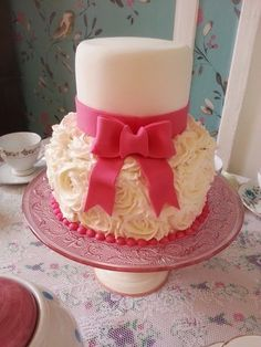 Vintage Two Tier Buttercream Rose Cake