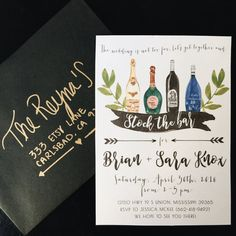 Celebrate your upcoming big day with this unique stock the bar invitation!   * Need your first proof within one business day? Purchase this
