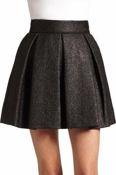 Rafia Pleated A-Line Skirt - Lyst