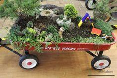 Red Wagon Miniature Garden
