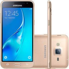Smartphone Samsung Galaxy J3 Dual Chip Desbloqueado Android 5.1 Tela 5'' 8GB 4G Wi-Fi Câmera 8MP - Dourado