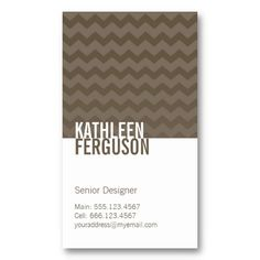 Chic chevron pattern ash gray two tone stylish business card template