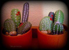 Cactus con piedras. DIY