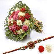 Flowers With Rakhi N Roli  Tikka