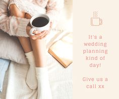 Brrrrrrr it's getting chilly outside ........ cosy up and let's get planning your wedding!