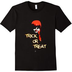 Trick or Treat Shirt Halloween Thanksgiving ($14) ❤ liked on Polyvore featuring costumes