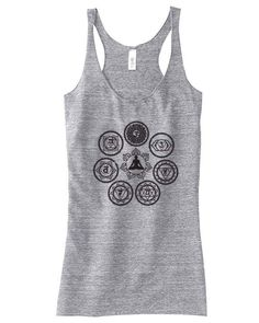 Chakra Top For Women Yoga Top Chakra Tank Top Gift for Mom or Her Available: S M L Xl