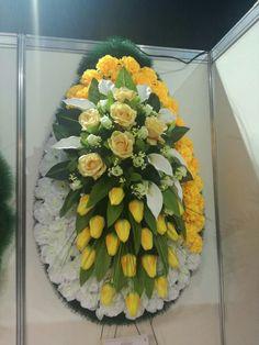 Funeral Floral Arrangements, Easter Flower Arrangements, Easter Flowers, Flower Wreath Funeral, Funeral Flowers, Wedding Flowers, Casket Sprays, Summer Wedding Cakes, Funeral Memorial