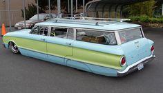 Ford Falcon Wagon, funky color combo, diff strokes, still cool.