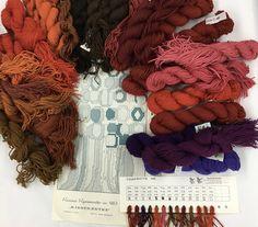 Rya Rug Kit From Norway Called Kirsebaertre Heritage Sheep Wool Yarn Linen Backing