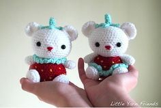 """Lil' Straw""""BEAR""""ries by Rachel Hoe Lil' Straw""""BEAR""""ries is Little yarn friends' 2nd Amigurumi Creation and I would love to share this adorable bears to anyone who is interested in making one for yourself to keep or to make it as a gift for your loved ones."""