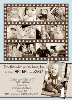 Custom Photo Card Collage Baby boy first by SandrinesBoutique, $15.00