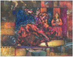 """Saatchi Online Artist daniel levy; Painting, """"flamenco dancing cat"""" #art"""