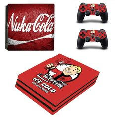 Fallout vault boy Ps4 pro edition skin decal for console and controllers