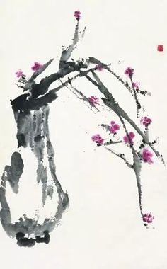 """Ji Xianggui mapa de la vida"" de color sobre papel de 1975 (Galería de Arte de China) .jpg:"