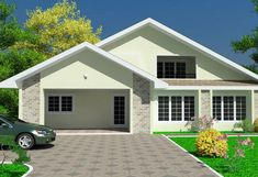Small House Plans are affordable to build in any African countries. This tiny house plan comes with engineering, architectural, and all structure drawings. Simple House Design, House Front Design, Minimalist House Design, Modern House Design, House Plans Mansion, Dream House Plans, Modern House Plans, Small House Plans, Modern Houses