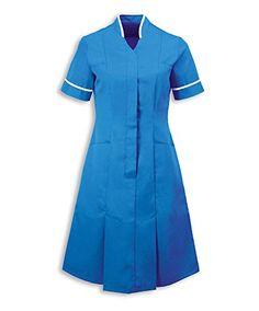 e74d8381557a Amazon.com  Alexandra Womens Mandarin Collar Healthcare Dress  Clothing