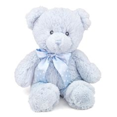 Give the new baby in your life the timeless gift of our 12 Inch Baby Safe Classic Plush Blue Teddy Bear By Aurora. Made from a heavenly soft blue plush that babies love to touch, our 12 Inch Baby Safe Classic Plush Blue Teddy Bear features embroidered Tedy Bear, Blue Teddy Bear, Teddy Bear Gifts, Baby Safe, Plush Animals, Boy Birthday, Baby Items, Aurora, Your Pet