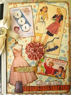 Fun Idea~Decorate your sewing work journal