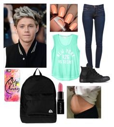 """""""8. Surprise I'm Pregnant With Niall"""" by nbrmacdonald ❤ liked on Polyvore featuring Frame Denim, Converse, Casetify, Quiksilver and Smashbox"""