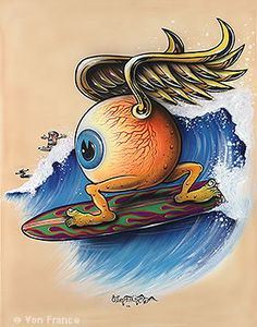Surfin Eye inspired by #VonDutch (Kenny Howard) #FlyingEye