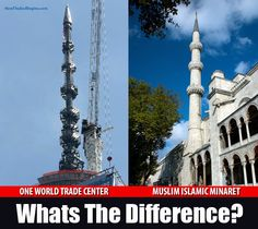 Why is the One World Trade Center Topped With Islamic Minaret, Signed by Obama? - RedFlagNews