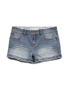 Ruffled Denim Shorts (Kids)   FOREVER21 girls Ruffled or cuffed denim? #F21Girls #Juniors #Denim