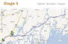 Tour de Thrift - Maine 2012 - Stage 4 visited Brunswick, Topsham and Freeport Maine.