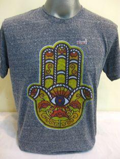New Sure Brand Design Men's Tshirts Hamsa Hand Denim Blue $18.00 at http://www.suredesigntshirts.com