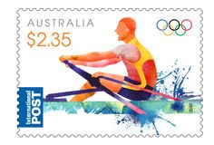 This issue is the 2nd of 3 that AusPost will release for the Games of the XXX Olympiad (27 July-12 Aug 2012) in London.  This issue includes the symbol of the International Olympic Committee (IOC) & commemorates the performances of Australia's athletes at past Olympic games especially in Rowing, Swimming and Pole Vault. Historically most medals won by Australian athletes have been in Swimming, Athletics, Cycling and Rowing. #stamps  http://auspo.st/OIwHsj