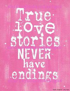 True love stories never have endings sign digital   wedding | Etsy
